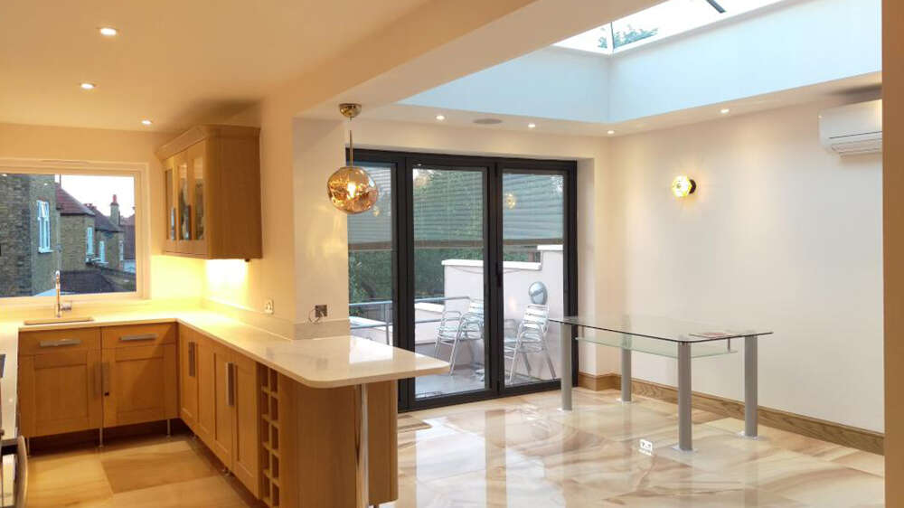 Orangeries kent contemporary structures kent for Orangery lighting ideas