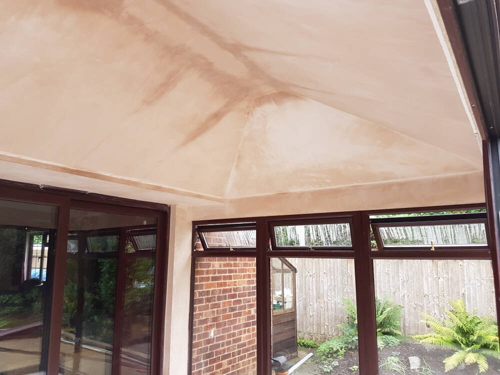 Installation Of Supalite Roof Contemporary Structures Kent